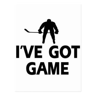 cool icehockey designs postcard
