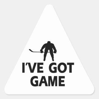 cool icehockey designs triangle sticker