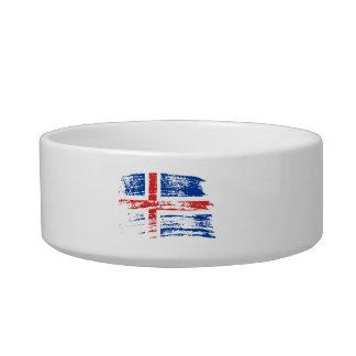 Cool Icelander flag design Cat Water Bowl