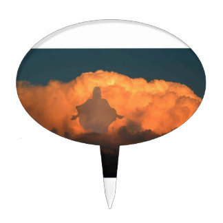 Cool Image of Jesus on Clouds Cake Toppers