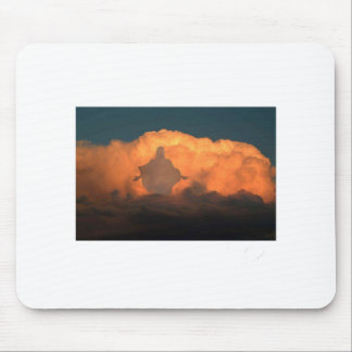Cool Image of Jesus on Clouds Mouse Pad