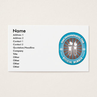 Cool Immunologists Club Business Card