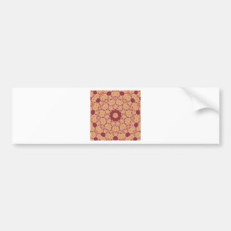 Cool Indian Inspired Red and Orange Pattern Car Bumper Sticker