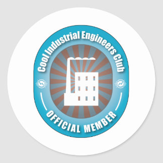 Cool Industrial Engineers Club Classic Round Sticker