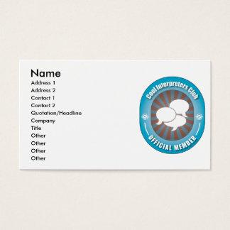 Cool Interpreters Club Business Card