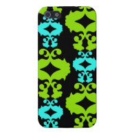 Cool iPhone 5 Cases for Girls Funky Neon Damask