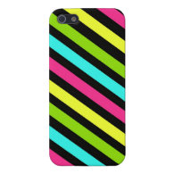 Cool iPhone 5 Cases for Girls Funky Neon Stripes