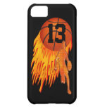 Cool iPhone 5C Cases for Boys, Flaming Basketball