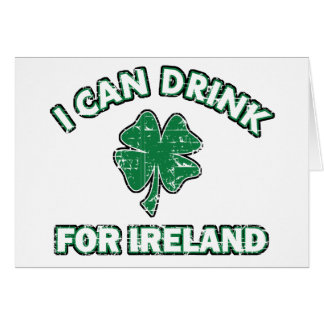 Cool Ireland Drinking Designs Card