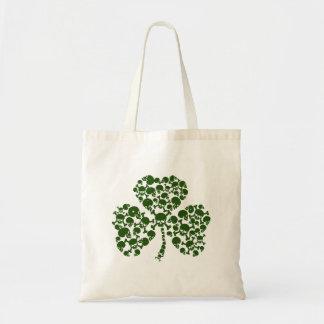 Cool Irish Shamrock of Skulls Bags