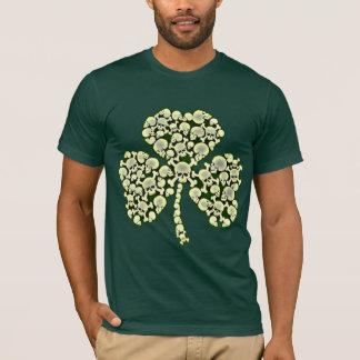 Cool Irish Skulls Shamrock T-Shirt