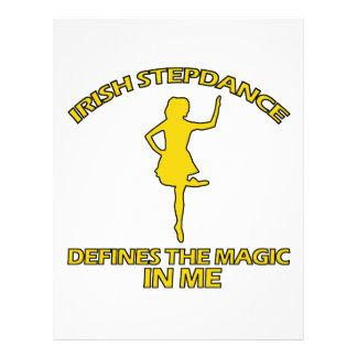 cool Irish Step dance designs Letterhead