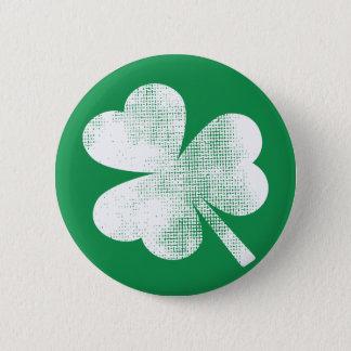 Cool Irish Vintage Shamrock St. Patricks Day Pinback Button