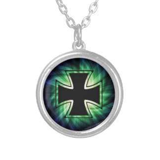 Cool Iron Cross Silver Plated Necklace