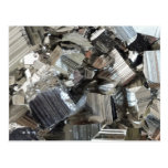 Cool Iron Pyrite Fool's Gold Cluster Postcard