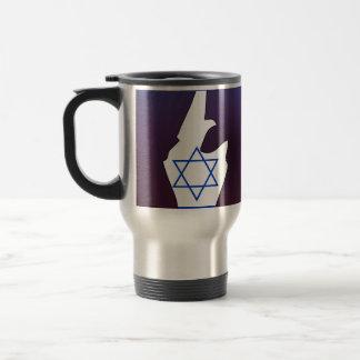 Cool israel Flag Map 15 Oz Stainless Steel Travel Mug