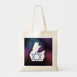 Cool israel Flag Map Budget Tote Bag