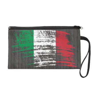 Cool Italian flag design Wristlet