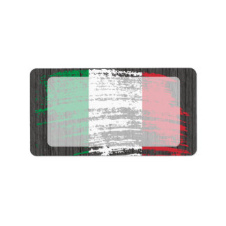 Cool Italian flag design Label