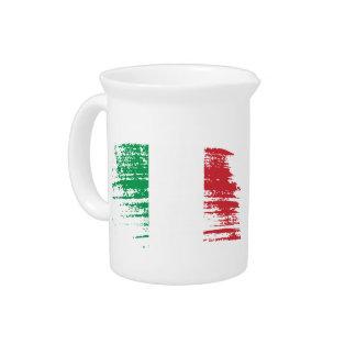 Cool Italian flag design Pitcher