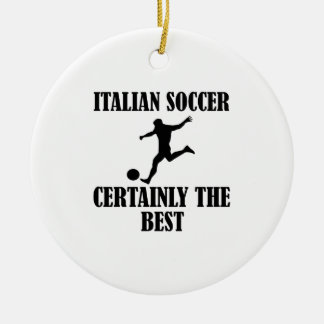 cool Italian soccer designs Double-Sided Ceramic Round Christmas Ornament