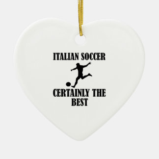 cool Italian soccer designs Double-Sided Heart Ceramic Christmas Ornament