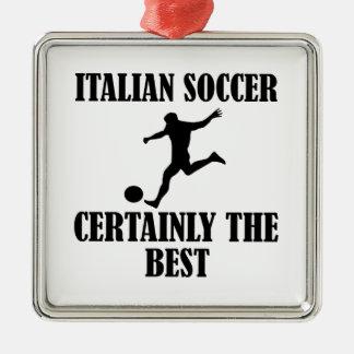 cool Italian soccer designs Square Metal Christmas Ornament