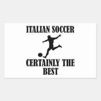 cool Italian soccer designs Rectangular Sticker