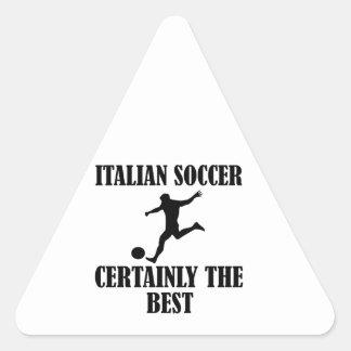 cool Italian soccer designs Triangle Sticker