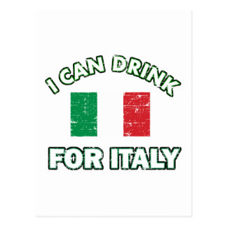 Cool Italy Drinking Designs Postcard