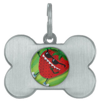 Cool Jack : Cute Strawberry Pet Name Tags