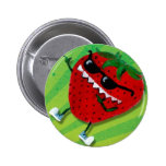 Cool Jack : Cute Strawberry Pinback Buttons
