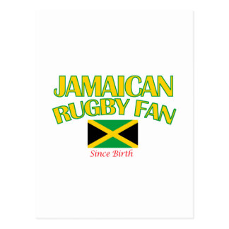 cool Jamaican rugby fan DESIGNS Postcard