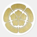 COOL JAPAN SAMURAI KAMON! CLASSIC ROUND STICKER