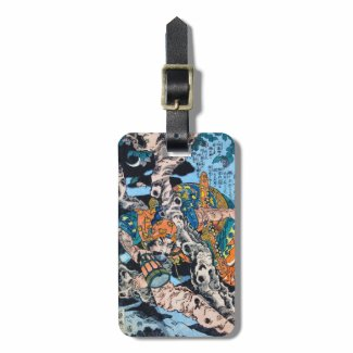Cool japanese Ancient Legendary Hero Warrior art Tag For Luggage