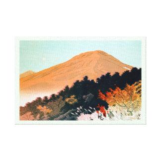 Cool japanese autumn fall mountain Fuji scenery Canvas Print