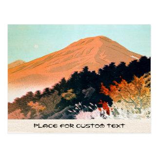 Cool japanese autumn fall mountain Fuji scenery Postcard