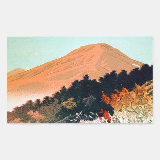 Cool japanese autumn fall mountain Fuji scenery Rectangular Sticker