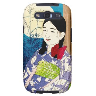 Cool japanese beauty young girl Natori full moon Galaxy S3 Covers