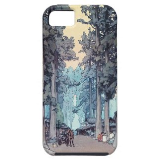 Cool japanese classic Hiroshi Tada forest painting iPhone 5 Cases