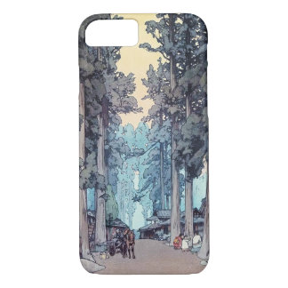 Cool japanese classic Hiroshi Tada forest painting iPhone 8/7 Case