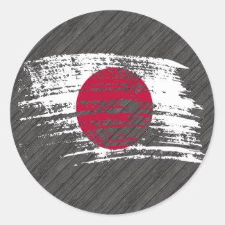 Cool Japanese flag design Classic Round Sticker