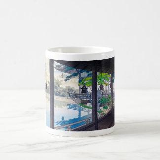 Cool japanese garden lake mountain scenery coffee mug