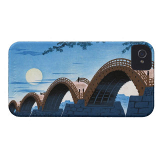 Cool japanese great bridge waterscape night moon iPhone 4 case