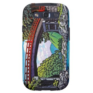 Cool japanese great forest bridge river waterscape samsung galaxy s3 case
