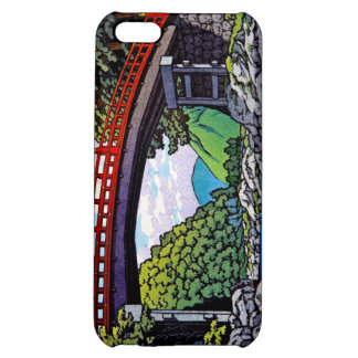 Cool japanese great forest bridge river waterscape cover for iPhone 5C