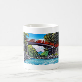 Cool japanese great forest bridge river waterscape mug