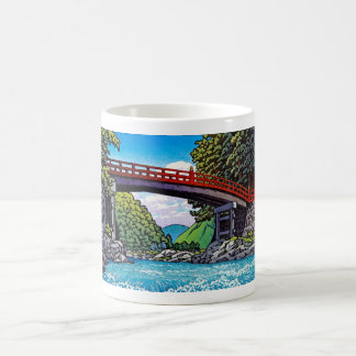 Cool japanese great forest bridge river waterscape coffee mugs