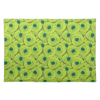 Cool japanese green emerald swirled pasta circle cloth place mat