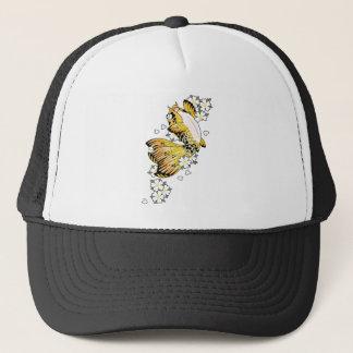 Cool Japanese Happy Gold Koi Fish Carp Trucker Hat